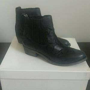 Coach leather booties,fit 7  or 7 1/2,nwt